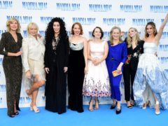 Christine Baranski, Judy Craymer, Cher, Jessica Keenan Wynn, Alexa Davies, Meryl Streep, Amanda Seyfried and Lily James attend the premiere of Mamma Mia! Here We Go Again (Ian West/PA)