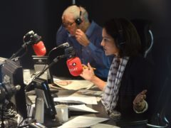 John Humphrys and Mishal Husain (Jeff Overs/BBC)