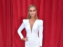 Catherine Tyldesley has shared before and after pictures (Matt Crossick/PA)