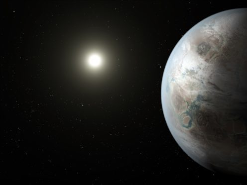 Artist's impression of 'Earth's cousin', Kepler 452b. (Nasa/JPL-Caltech/T Pyle/PA)