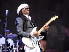 Nile Rodgers and Chic performing on the Pyramid Stage at Glastonbury Festival (Ben Birchall/PA)