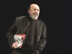 Sir Peter Hall at the John Gielgud Gala, the former director of the National Theatre, died at the age of 86. (RSC/PA)