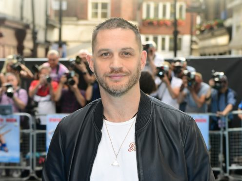 Tom Hardy attending the Swimming with Men premiere held at Curzon Mayfair, London. (Ian West/PA)