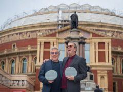 Roger Daltry and Eric Clapton outside the Royal Albert Hall (Dominic Lipinski/PA)