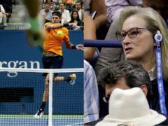 Actress Meryl Streep watched the 2018 US Open men's singles final between Novak Djokovic and Juan Martin del Potro (Andres Kudacki/AP and Julio Cortez/AP)