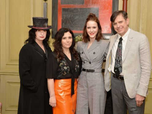 Amy Sherman-Palladino (left) and Daniel Palladino with cast members Alex Borstein and Rachel Brosnahan (second right) (John Stillwell/PA