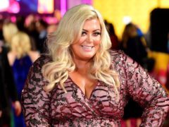 Gemma Collins said she was not afraid to fall on the ice (Ian West/PA)