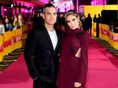 Robbie Williams and Ayda Field at the ITV Palooza (Ian West/PA)