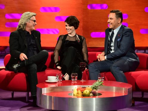 Claire Foy during the filming of the Graham Norton Show at BBC Studioworks 6 Television Centre, Wood Lane, London (Ian West/PA)