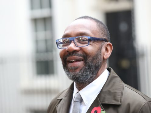 Sir Lenny Henry delivers a letter signed by a string of stars, to 10 Downing Street, London, calling for tax breaks for UK film and TV productions to improve diversity and inclusion behind the camera.