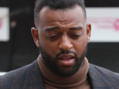 Former JLS star Oritse Williams, 31, of Croydon, London, arrives at Wolverhampton Crown Court where he is charged with rape.