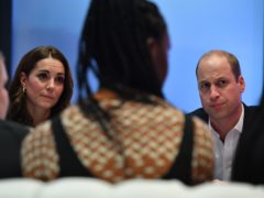 The Duke and Duchess of Cambridge talk with young people about online bullying during a visit to BBC Broadcasting House (Ben Stansall/PA)