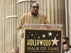 Snoop Dogg said he hopes he can be a positive influence on the next generation of rappers as he was honoured with a star on the Hollywood Walk of Fame (Willy Sanjuan/Invision/AP)