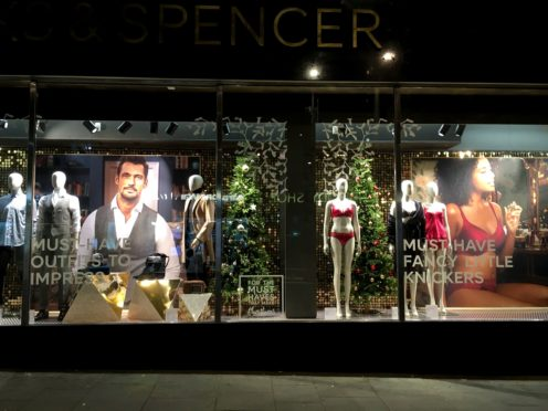The Marks & Spencer window display (Fran Bailey/Facebook/PA) and issued