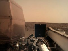 This image of the Martian surface was taken after landing on Monday (Nasa InSight/PA)