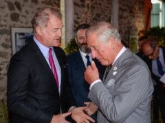 Owen Teale greets the Prince of Wales (Ben Birchall/PA)