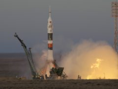 The Soyuz-FG rocket booster with Soyuz MS-11 space ship carrying a new crew to the International Space Station, ISS, blasts off at the Russian leased Baikonur cosmodrome in Kazakhstan (AP Photo/Dmitri Lovetsky)