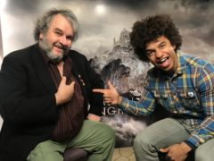 Sir Peter Jackson has been honoured with a Blue Peter gold badge (Blue Peter/BBC/PA)