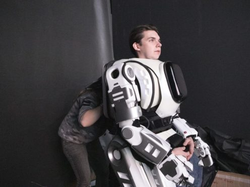 Russia's cutting edge robot turns out to be bloke in costume