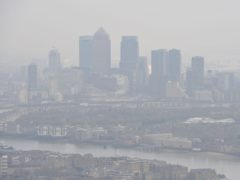 Air pollution has been a major problem in parts of London (Nick Ansell/PA)