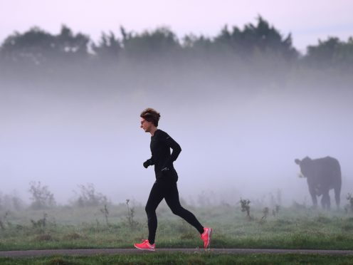 Physical exercise, such as running, may ward off Alzheimer's by releasing the muscle hormone irisin, new research suggests. (Joe Giddens/PA)