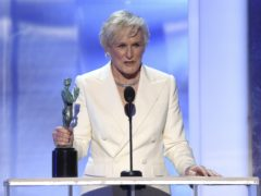 Glenn Close accepts the award for outstanding performance by a female actor in a leading role (Photo by Richard Shotwell/Invision/AP)