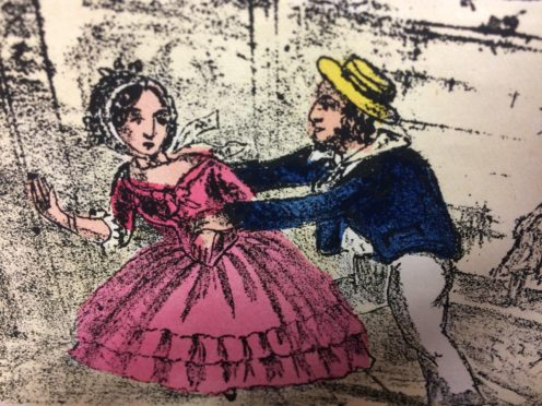 An illustration from the edition of Fanny Hill (Hansons/PA)
