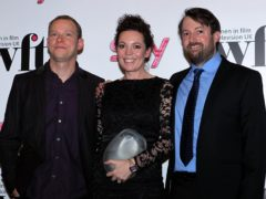 Robert Webb, Olivia Colman, who won the best performance award, and David Mitchell, at the Sky Women in Film and Television Awards in London (Sean Dempsey/PA)