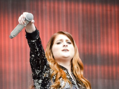 Meghan Trainor's husband shared a video of the surprise dance routine he performed for his new wife at their wedding (Ben Birchall/PA)
