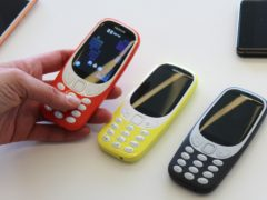 New versions of the Nokia 3310 were unveiled at the Mobile World Congress (MWC) in Barcelona (Martin Landi/PA)