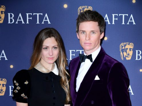 Hannah Bagshawe and Eddie Redmayne attending the 2019 Bafta Film Gala (Ian West/PA)