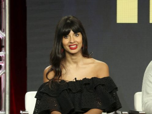 Jameela Jamil has called the late fashion designer Karl Lagerfeld a 'fat-phobic misogynist' (Willy Sanjuan/Invision/AP)