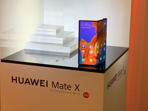 Huawei claims the Mate X is the 'world's fastest foldable 5G smartphone' (Martyn Landi/PA)