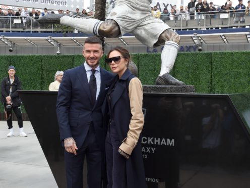 James Corden pranks David Beckham good with a fake statue reveal