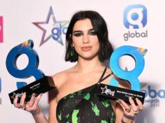 Dua Lipa won best female and best British artist or group at the Global Awards (Scott Garfitt/PA)