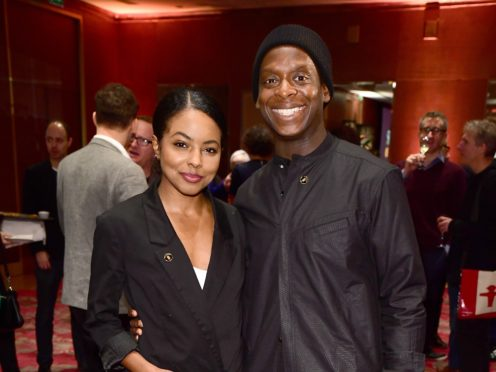 Adrienne Warren and Kobna Holdbrook-Smith at the Olivier Awards nominations lunch (Ian West/PA)