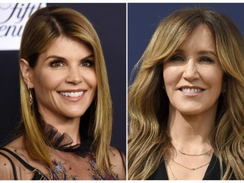 Lori Loughlin and Felicity Huffman (AP Photo)