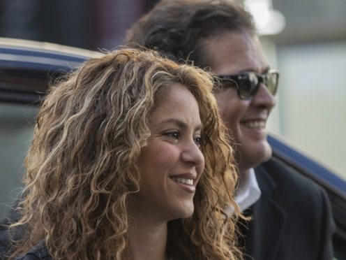 Colombian singers Shakira, left, and Carlos Vives (Bernat Armague/AP)