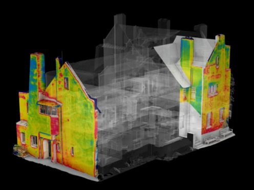 Thermal imaging has revealed areas of damp at The Hill House (National Trust for Scotland/PA)