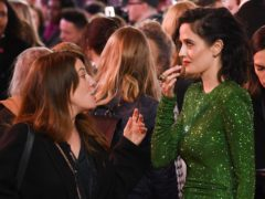 Eva Green takes chewing gum out of her mouth at the Dumbo film premiere (David Fisher/REX/Shutterstock)