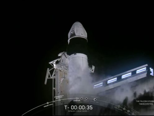 SpaceX's Falcon 9 and Crew Dragon (SpaceX/PA)