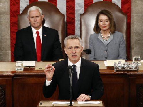 Jens Stoltenberg's address was the first to Congress by a NATO head (AP Photo/Patrick Semansky)
