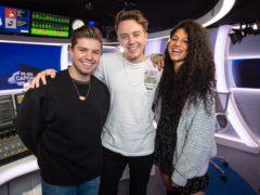 Capital Breakfast presenters Sonny Jay, Roman Kemp and Vick Hope (Matt Crossick/PA)