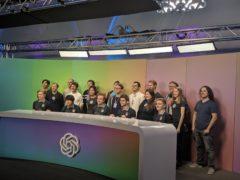 Esports players from professional team OG wih OpenAI engineers. (OpenAI)