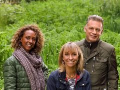 Springwatch presenters Gillian Burke, Michaela Strachan and Chris Packham (Glenn Dearing/PA)