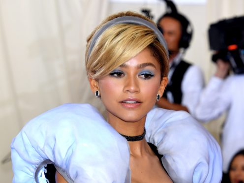 Actress and singer Zendaya brought a touch of the fairytale to the Met Gala pink carpet as she came dressed as Cinderella (Jennifer Graylock/PA)