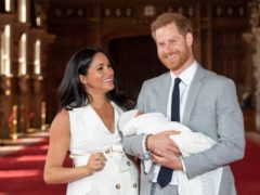 The Duke and Duchess of Sussex with their baby son (Dominic Lipinski/PA)