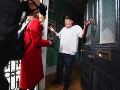 Danny Baker speaking at his London home after he was fired (Victoria Jones/PA)