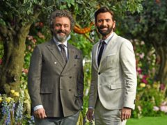 Michael Sheen (left) and David Tennant at the premiere of Good Omens (Kirsty O'Connor/PA)