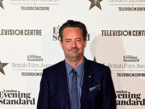 Friends star Matthew Perry laughed off reports suggesting he looked 'dishevelled' and had long fingernails (Ian West/PA)